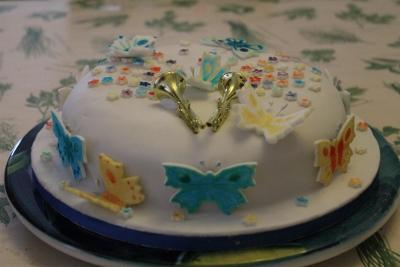 A celebratory madeira cake
